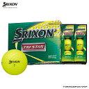 【ダンロップ】ゴルフボール SRIXON(スリクソン)TRI?STAR3 1ダース(12個入り)プレミアムパッションイエロー【オウンネーム】【2020年モデル】