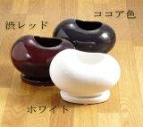 小さい体に魅力が一杯♪お豆みたいな植木鉢small【陶器鉢 植木鉢 白 黒 おしゃれ インテリアcb327】