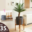 Flowers, Garden, Diy - 重量感あるシリンダー植木鉢を、木製スタンドで。(35cm)【送料無料・同梱不可】【ma】