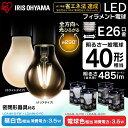 LEDフィラメント電球 E26 40W 非調光 昼白色 電球色 485lm クリア 乳白 LDA4L