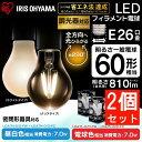 【2個セット】LEDフィラメント電球 E26 60W相当 LDA7N-G/D-FC送料無料 led 照明 ライト 電球 E26口金 一般電球 810lm 密閉型器具対応 調光器対応 アイリスオーヤマ 昼白色相当・電球色相当/クリア・ホワイト