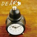 DEARテーブルクロックCL-4982[ホワイト/★ブラック/クロム/ゴールド]【TC】【置き時計/インテリア雑貨/ギフト/プレゼント/シック/モダン】