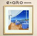 【風景画-夏-船上-海 アートパネル】壁掛け ファブリックパネル 絵画