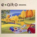 壁掛けアート アートパネル 風景画/イラストレーター 高橋宣孝 たかはしのぶたか/イラスト 絵画/風景画 赤い車とピクニックをする二人、秋の風景