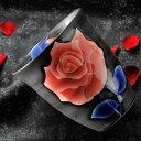 【名入れ専門】【名入れギフト 陶器】有田焼 薔薇フリーカップ