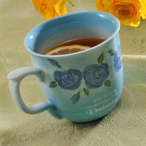 【名入れ専門】【名入れギフト 陶器】有田焼陶器ミニローズ マグカップ 単品