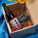 【名入れ専門】【名入れ プレゼント】【 酒 】 泡盛ミニボトル付き 琉球ガラス グラスセット