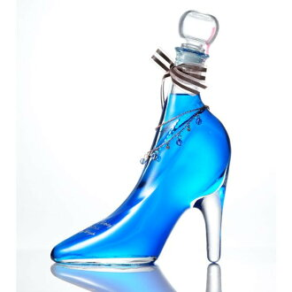 Shoes blue curacao of the excellent case present glass