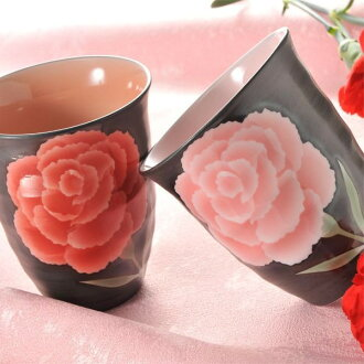 Arita ware making handicraft carnation-free cup Mother's Day gift 2014