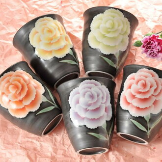 Arita porcelain hand made carnations free Cup of 2014 gradient mother's day gift