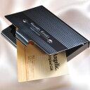 ショッピングカード 【名入れ専門】【名入れ プレゼント】ブラック・メタルカードケース