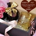 ショッピング琉球 名入れ プレゼント ギフト 琉球ガラス 単色グラデーション 美ら海 ロックタンブラー ゴディバセット