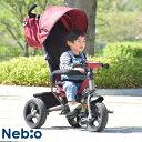 三輪車 かじとり 大型タイヤ 幌付き 子供 乗用玩具 サンシ...