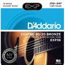Daddario ダダリオ ダダリオ コーティング・アコースティック弦 EXP36(12弦) 1セット 仕入先在庫品【10P03Dec16】