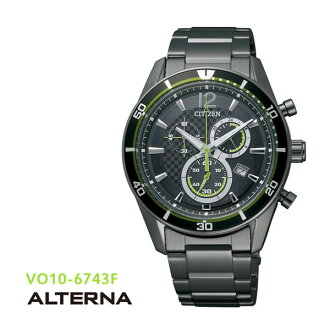 CITIZEN citizen ALTERNA alternative eco-drive chronograph VO10-6743F