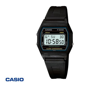 Secretary who also relief ♪ ♪ memorabilia! In the giveaway! Large orders available! CASIO Casio wristwatch digital watch mens f-84W-1