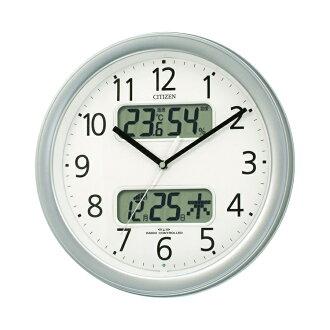 랩핑 무료♪디지털온습도계・캘린더 첨부 전파 시계 넴리나카렌다 M01 4 FYA01-019 fs3gm