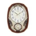 リズム時計 スモールワールドノエルM 電波からくり時計 4MN513RH23 クロック CLOCK 電波時計 掛け時計