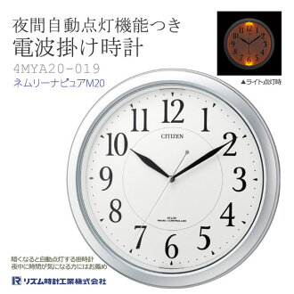 CITIZEN citizen rhythm clock radio clock clock ネムリーナピュア M20 4MYA20-019