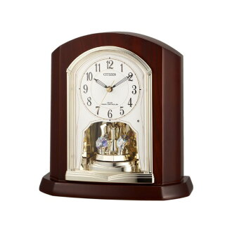 High-quality electric wave table clock Citizen citizen rhythm clock パルロワイエ R702 4RY702-006fs3gm