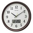 リズム時計 電波掛時計 温湿度計付 フィットウェーブリブA02 8FYA02SR06
