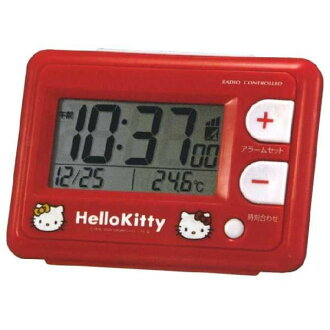 Wrapping free ♪ ♪ Hello Kitty HELLO KITTY radio alarm clock コンパクトアラームク clock CITIZEN citizen rhythm watch 8RZ095RH01fs3gm