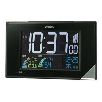 Rhythm clock digital radio clock hanging place Unisex Watch パルデジット neon 119 temperature humidity indicator with clock 8RZ119-002fs3gm