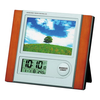 Graduation memorabilia you like? Radio clock photo frame clock clocks alarm clocks Adesso C-8297