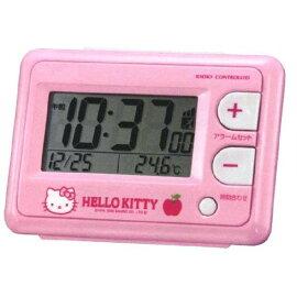 ラッピング無料♪♪ハローキティHELLOKITTY電波目覚まし時計コンパクトアラームクロックCITIZENシチズンリズム時計8RZ095RH13