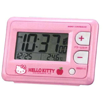 Wrapping free ♪ ♪ Hello Kitty HELLO KITTY radio alarm clock コンパクトアラームク clock CITIZEN citizen rhythm watch 8RZ095RH13fs3gm