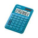 ミニジャスト型カラフル電卓 MW-C20C-BU-N カシオ CASIO レイクブルー 青 緑 12桁表示 税計算 時間計算 2電源 ソーラー 電卓
