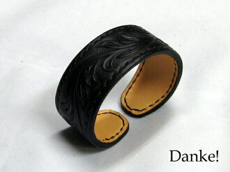 ★ ★ carving ★ ★ handmade hand carved leather small dark brown color DAN-AB020DBRfs3gm