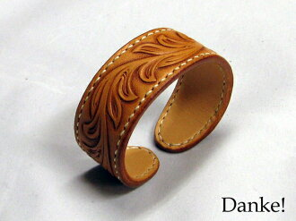 ★ ★ carving ★ ★ handmade hand carved leather accessories natural color DAN-AB020NAfs3gm