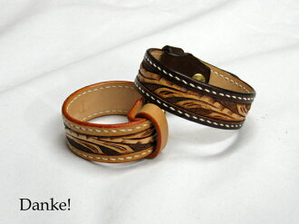 ★ ★ カービングキボシ ★ ★ handmade hand carved leather accessory DAN-AB021fs3gm
