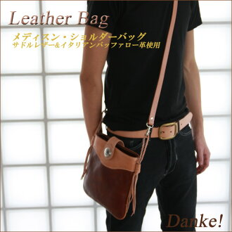The Orthodox recommendations! Hand-made saddle leather & イタリアンバッファロー leather use medicine and shoulder bag fs3gm