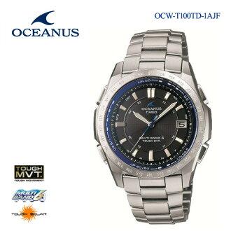 卡西歐CASIO OCEANUSオシアナスソーラー電波鐘表OCW-T100TD-1AJFupup7