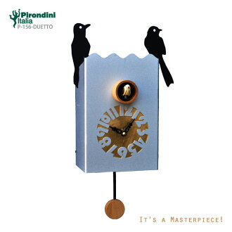 A stylish cuckoo clock arrived from Italy! Cuckoo clock wooden clock P-156-Duettoupup7 made in Pirondini (pyrone Dini) company