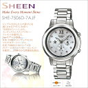 [email service impossibility] [free shipping!] Casio scene CASIO SHEEN Lady's watch Swarovski adoption! It is fs2gm [RCPfashion] [smtb-k] [kb] [comfortable ギフ _ expands an address] [excellent comfortable ギフ _ case] SHE-7506D-7AJF [easy ギフ _ packing]