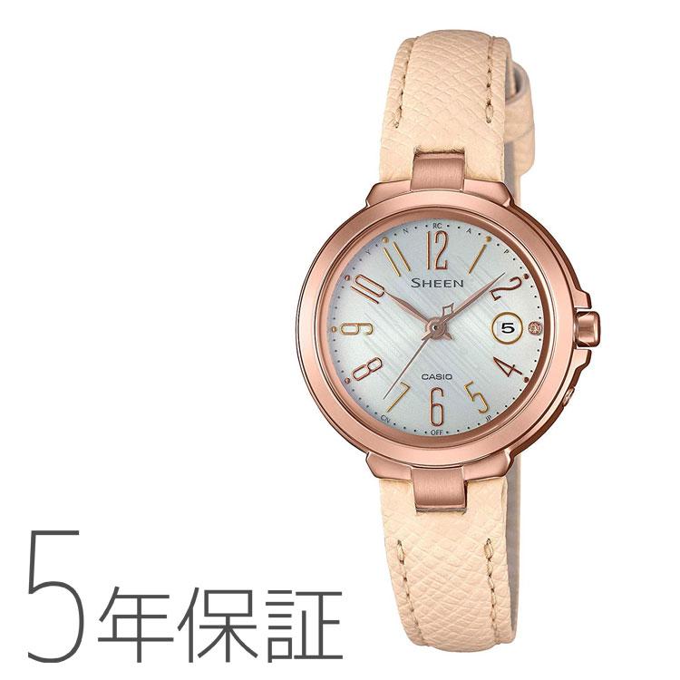 CASIO カシオ SHEEN シーン タフソーラー 電波ソーラー 電波腕時計 本革 レディース SHW-5100PGL-7AJF