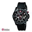 スーパーSALE対象商品 【DM便/ネコポス不可】【送料無料(北海道・沖縄・離島除く)】刻印不可 Wenger ウェンガー 腕時計 ウォッチ メンズ スクアドロン クロノグラフ 77053