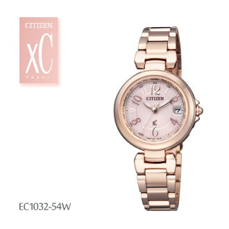 Citizen citizen xC cross sea Eco drive radio time signal HAPPY FLIGHT EC1032-54W Lady's watch