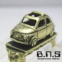 クラシックカーキーリング 3 【500】 ブラス 真鍮 (キーホルダー鍵、 旧車 自動車 イタリア車