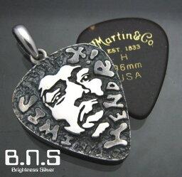 ジミヘン、<strong>ジミ・ヘンドリックス</strong>Jimi Hendrixピックケースペンダント シルバー925 ミュージシャン、ギター、ギタリスト、ロック