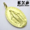 イエローブラス 聖母マリアのメダル マリアメダイペンダント12 真鍮製