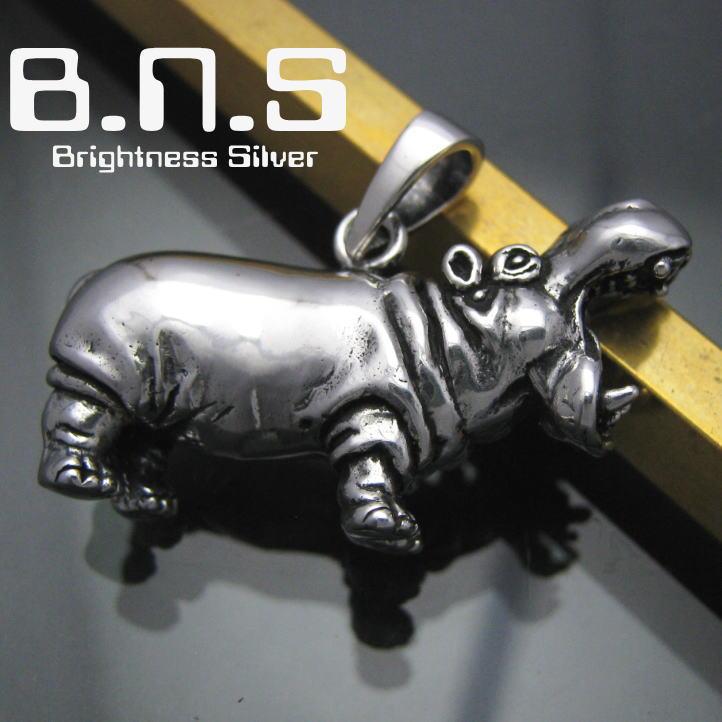 銀の河馬 カバペンダント シルバー925 SV925 silver925 (かば、ヒポポタマス、Hippopotamus amphibius、動物)