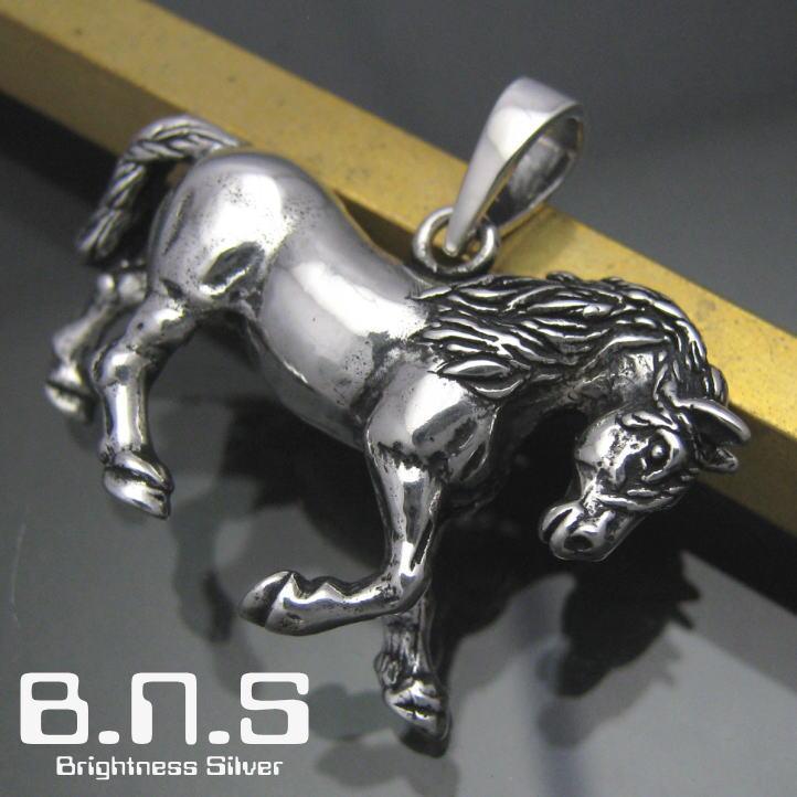 銀の駿馬 ホースペンダント シルバー925 SV925 silver925 (馬、競馬、サラブレッド、ウマ、horse、Equus caballus、動物)