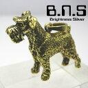 金色の犬 シュナウザーペンダント 真鍮 ブラス brass (ネックレス、犬、ドッグ、Dog、Schnauzer、ミニチュア、スタンダード、ジャイ..