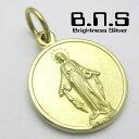 イエローブラス 聖母マリアのメダル マリアメダイペンダント5 真鍮