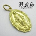 イエローブラス 聖母マリアのメダル マリアメダイペンダント10 真鍮 ブラス