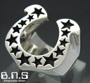 馬蹄の指輪 ホースシューリング シルバー925(メンズ レディース シルバーリング 蹄鉄